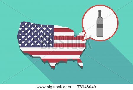 Usa Map With A Bottle Of Wine