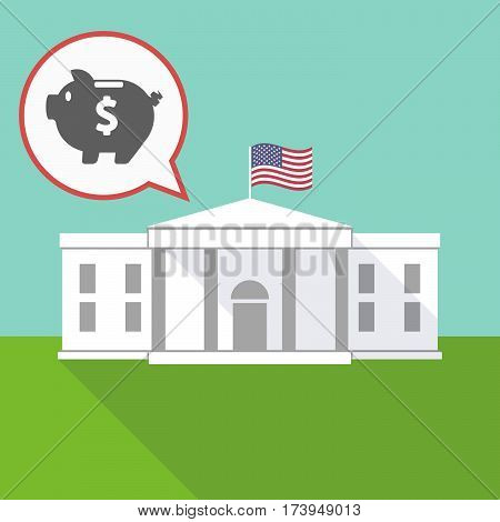 The White House With A Piggy Bank