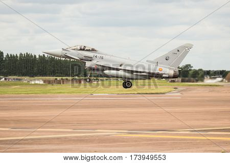 Spanish Air Force Typhoon Landing