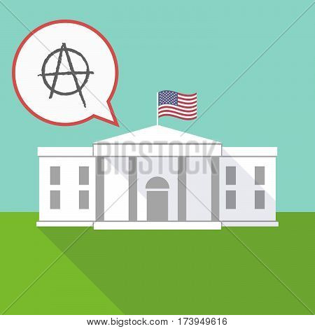 The White House With An Anarchy Sign