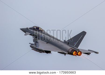 Raf Typhoon Low Approach