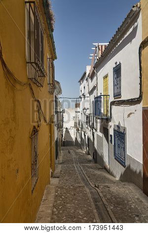 Jaen (Andalucia Spain): an old typical street