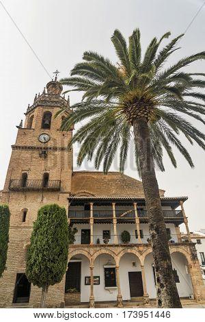 Ronda (Andalucia Spain): exterior of the church known as Parroquia Santa Maria la Mayor