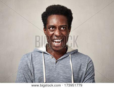 Angry black man.