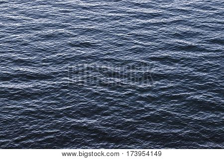 Sea water pattern from above with calm water.