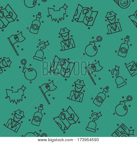 Piracy set pattern. Theme of pirates with colorful symbols for use in design, web site, packing, textile, fabric