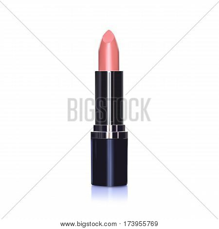 Red make up Lipstick realistic vector illustration
