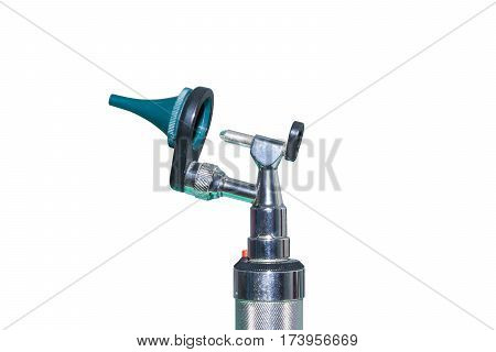 half otoscope isolated for doctor treatment ear illness