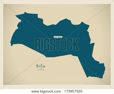 Modern Map - Sila TD illustration silhouette