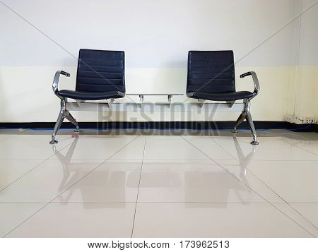 Empty chairs in waiting room interior design use for relax,chairs in ordinary empty waiting room