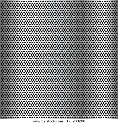 Chrome Grid Metal background. Illustration