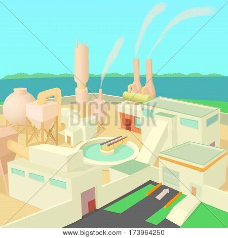 Industrial factory concept. Cartoon illustration of industrial factory vector concept for web