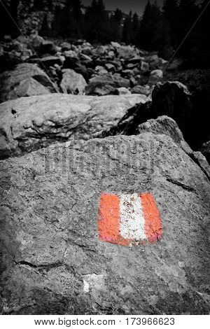 Trail Marker For Hikers