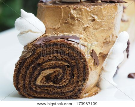Close Up Of Fresh Homemade Coffee Cake