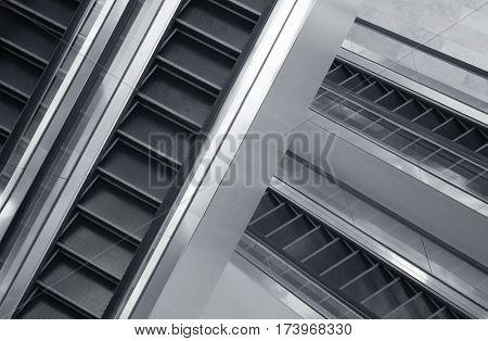 Elevators in a massive shopping mall