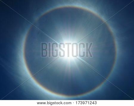 Close Up Of Shining Solar Eclipse Background