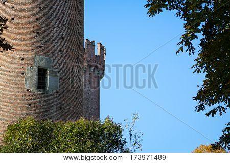 Castle In Ivrea. Piemonte, Italy