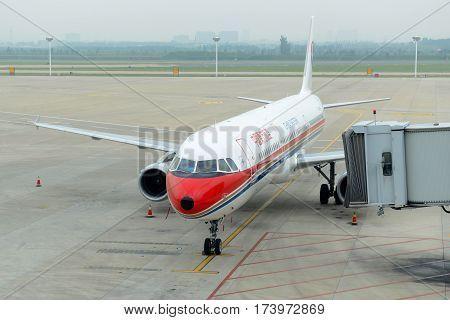 SHENYANG, CHINA - SEP. 6, 2016: China Eastern Airlines A321-200 at Shenyang Taoxian International Airport, Shenyang, Liaoning, China.
