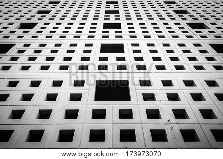 image of Wall building With Square Shape Hole