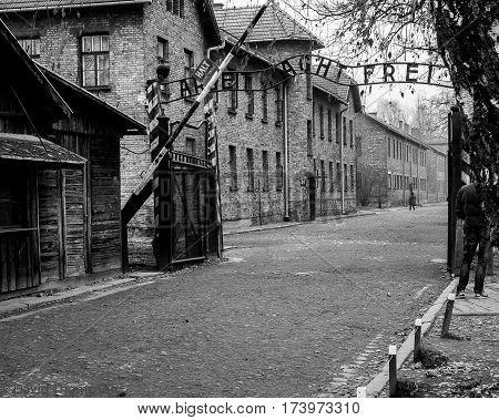 Work shall make you free- the main gate of Aushwitz