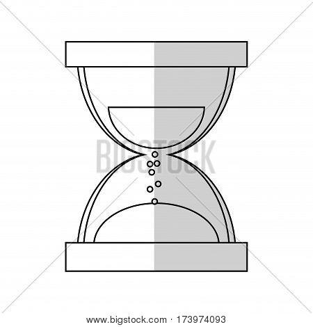 sandclock icon over white background. vector illustration