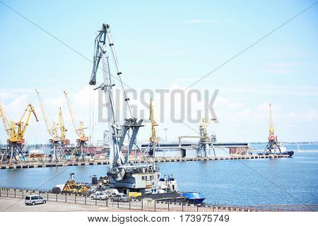 Port, view from the sea