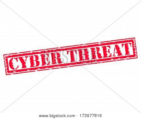 CYBER THREAT RED Stamp Text on white backgroud