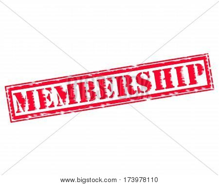 MEMBERSHIP RED Stamp Text on white backgroud