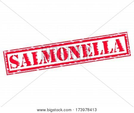 SALMONELLA RED Stamp Text on white backgroud