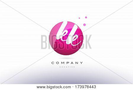 Kk K K  Sphere Pink 3D Hand Written Alphabet Letter Logo