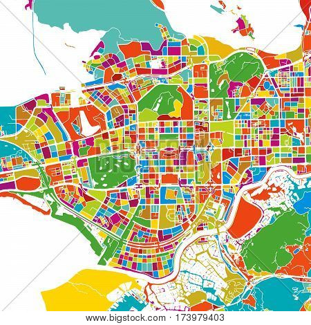 Shenzen Colorful Vector Map