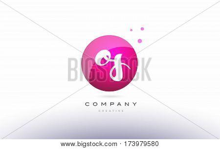 Os O S  Sphere Pink 3D Hand Written Alphabet Letter Logo