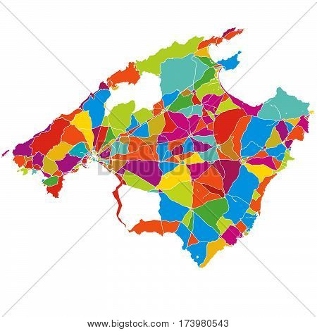 Mallorca Colorful Vector Map