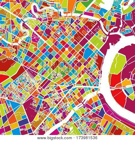 Ho Chi Minh City Colorful Vector Map