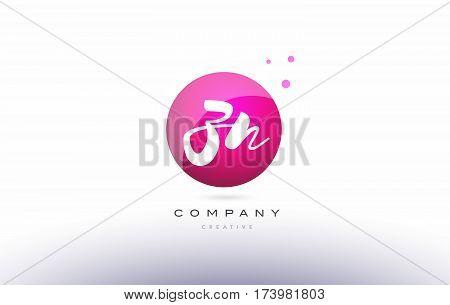 Zn Z N  Sphere Pink 3D Hand Written Alphabet Letter Logo