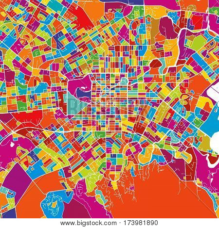 Christchurch Colorful Vector Map