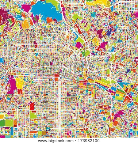 Los Angeles Colorful Vector Map