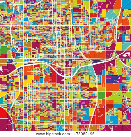 Oklahoma City Colorful Vector Map