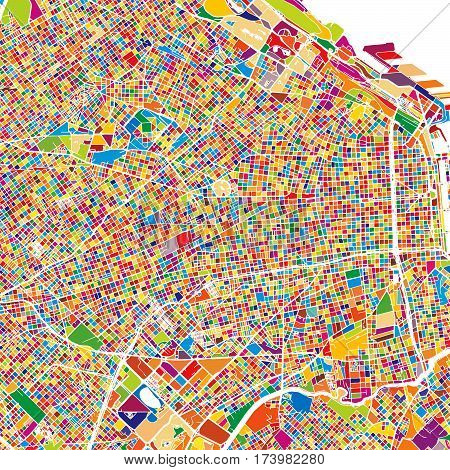 Buenos Aires Colorful Map