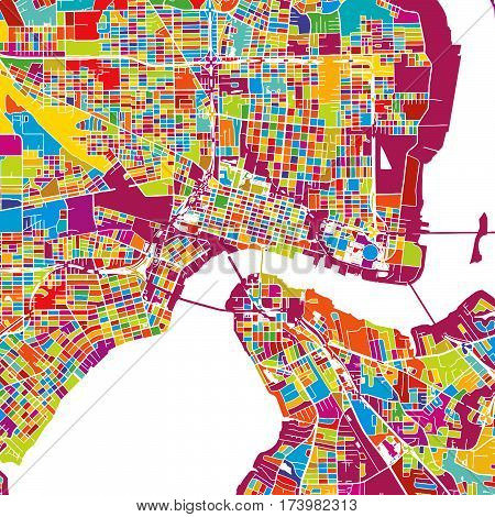 Jacksonville Colorful Vector Map