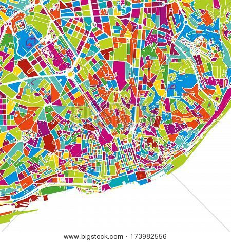 Lisbon Area Colorful Vector Map