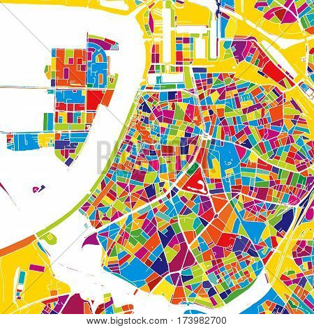 Antwerp Colorful Vector Map