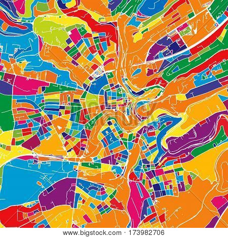 Luxembourg Colorful Vector Map