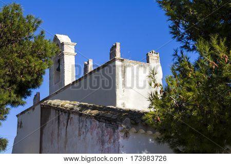 Quartu: exterior architecture of the church of Sant'Andrea - Sardinia