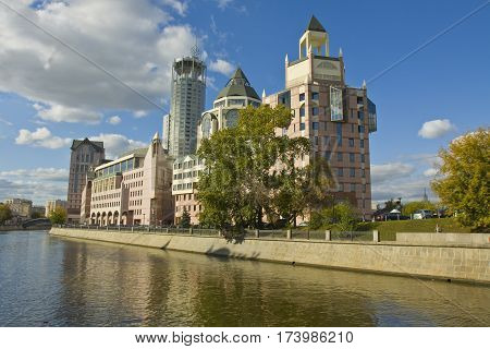 MOSCOW - SEPTEMBER 17 2012: modern buildings on business centre
