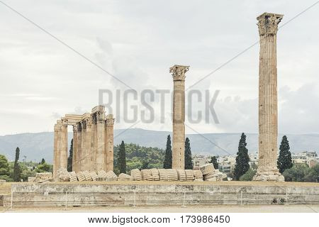 Remains From Temple of Olympian Zeus, Athens