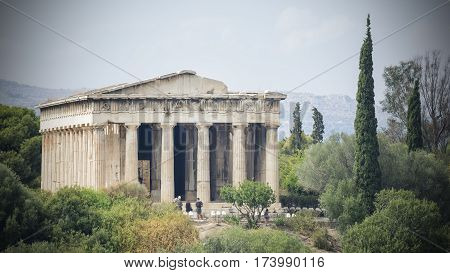 The Temple of Hephaestus at Athens, Greece