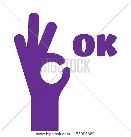 OK vector sign. OK win symbol vector