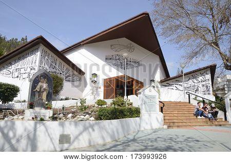 MARBELLA, SPAIN - FEBRUARY 27, 2017: Santo Cristo del Calvario Church in Marbella Andalusia Spain.