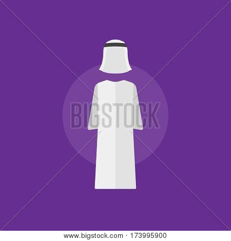 Arab man clothes. Arab man clothes vector illustration sign